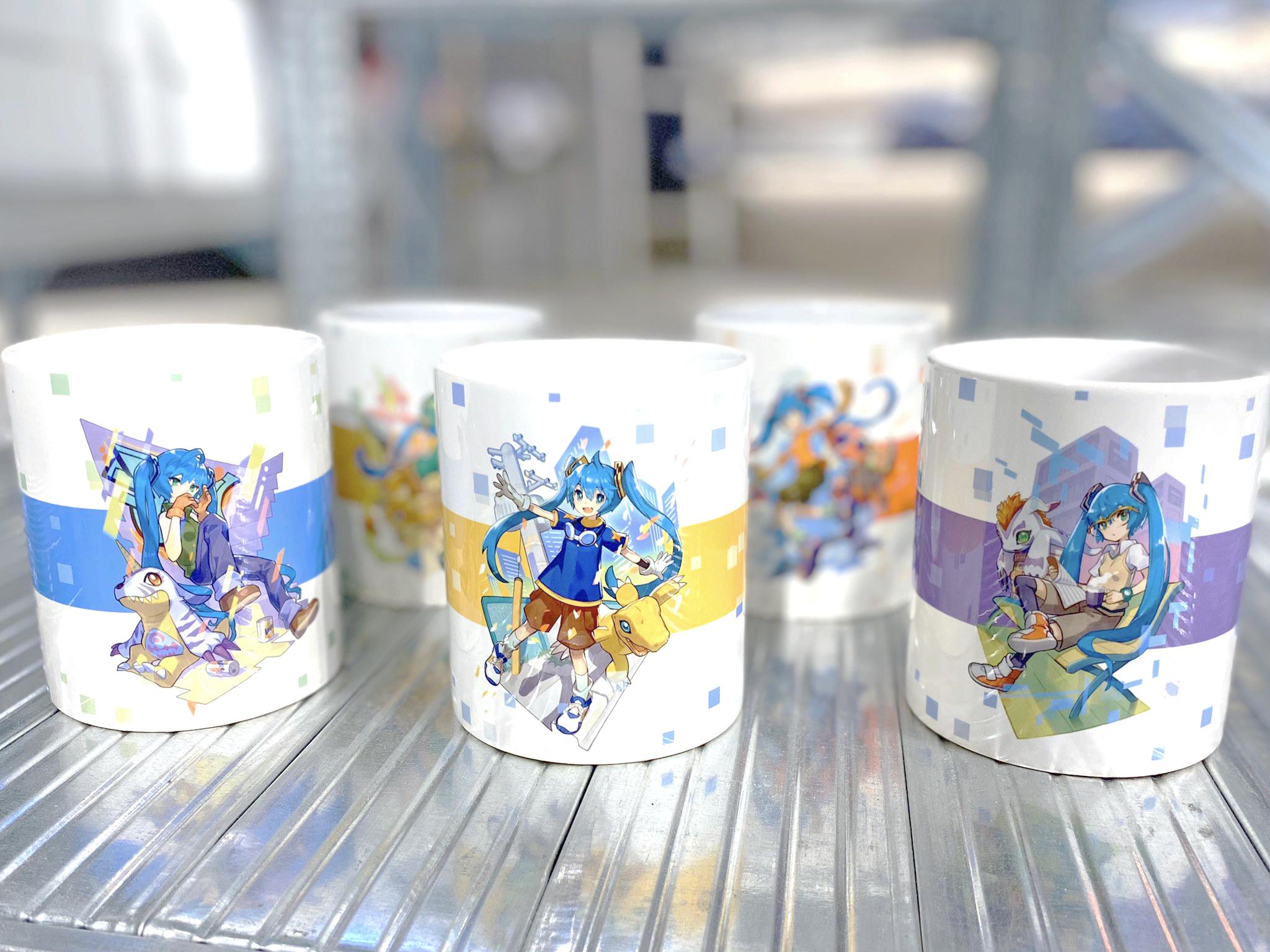 初音ミク×デジモンアドベンチャー マグカップ